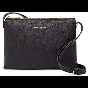 Marc Jacobs Leather Crossbody Bag - Black